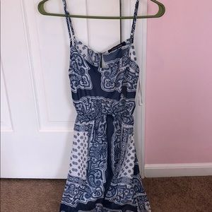 💙trendy blue and white dress💙accepting offers!